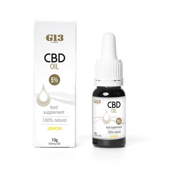 G13 Labs 5% CBD Oil Lemon
