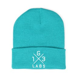 G13 Labs Cross Design Embroidery Cuff Beanie Emerald