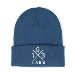 G13 Labs Cross Design Embroidery Cuff Beanie Petrol