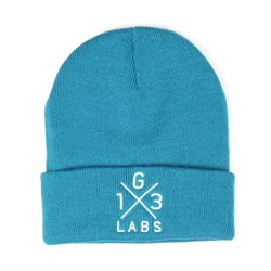 G13 Labs Cross Design Embroidery Cuff Beanie Teal