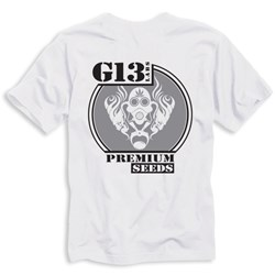 Grey Circle Gas Mask Logo T-shirt - White