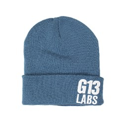 G13 Labs Side Trademark Embroidery Cuff Beanie Air Force Blue