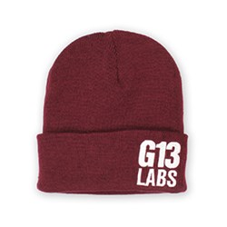 G13 Labs Side Trademark Embroidery Cuff Beanie Burgundy