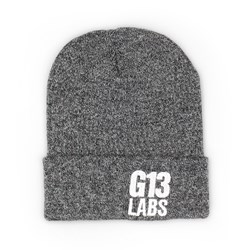 G13 Labs Side Trademark Embroidery Cuff Beanie Antique Grey