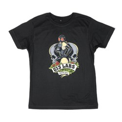 G13 Labs Gas Mask Lady T-shirt Black