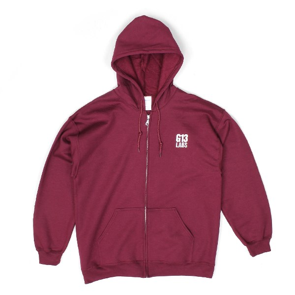 G13 Labs Embroidered Trademark Zip Hoody - Burgundy