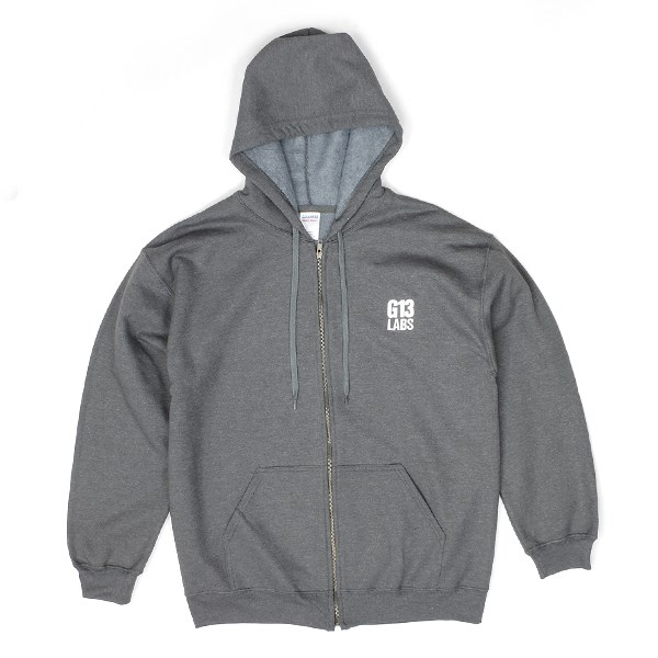 G13 Labs Embroidered Trademark Zip Hoody - Charcoal