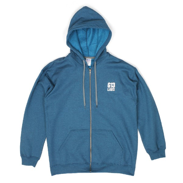 G13 Labs Embroidered Trademark Zip Hoody - Blue