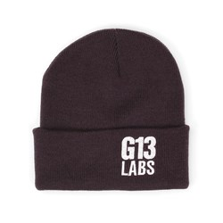 G13 Labs Side Trademark Embroidery Cuff Beanie Plum